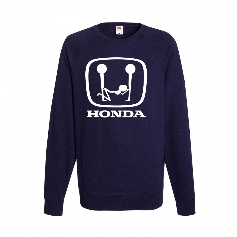 Tmavě modré pánské triko s dlouhým rukávem Honda Sex B-M-AU-043N