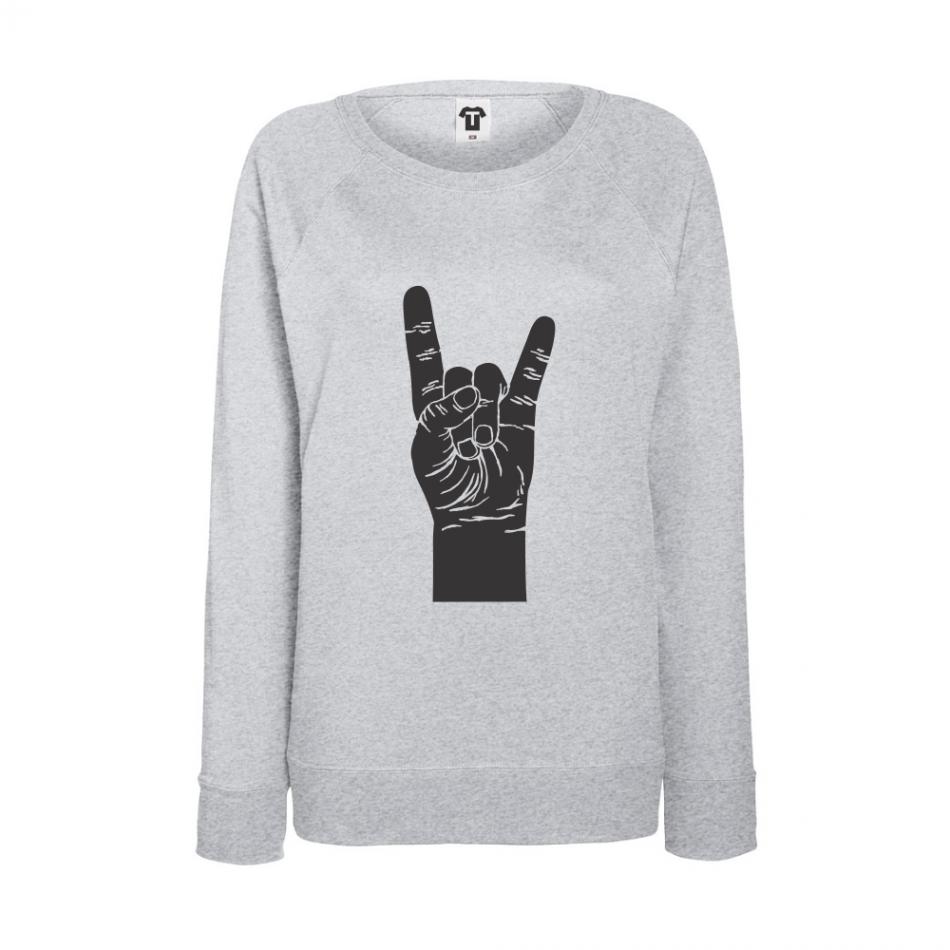 Šedé dámské triko s dlouhým rukávem BD-W-046G