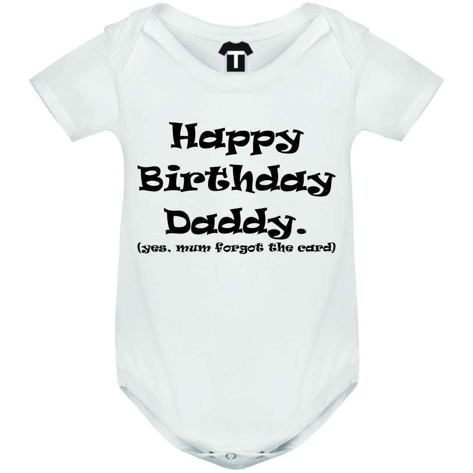 Dětské body Happy Birthday Daddy D-B-216