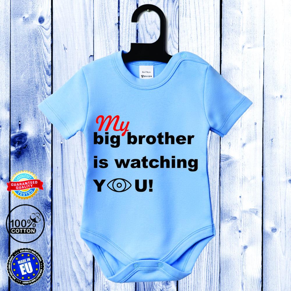 Kojenecké body s krátkým rukávem světlě modré Big Brother D-B-057-B1