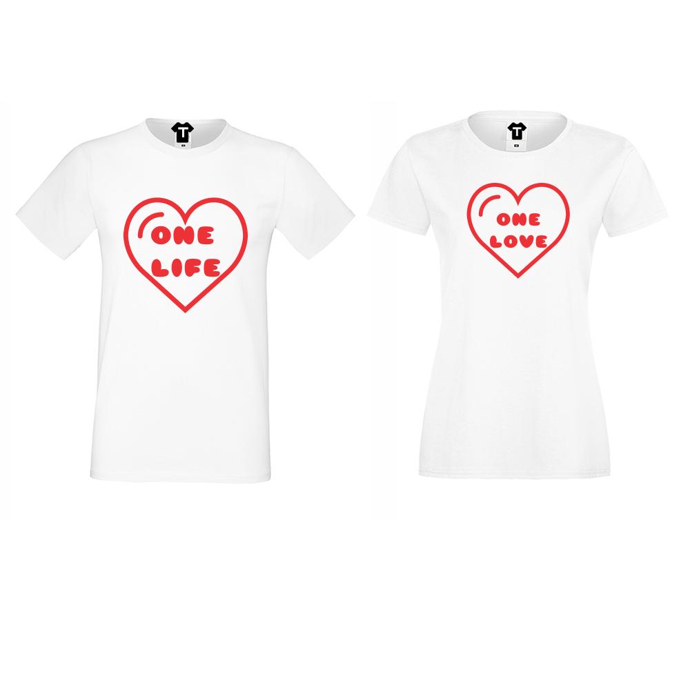 Trička pro páry One Life - One Love D-CP-107