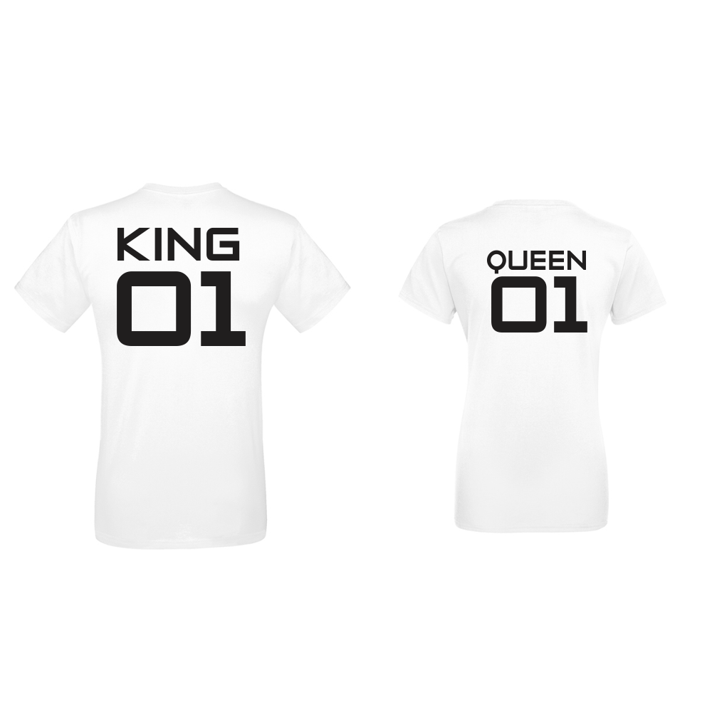Trička pro páry  King 01 - Queen 01 D-CP-142