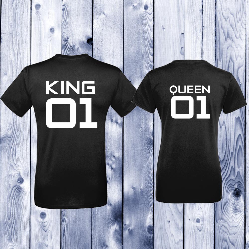 Trička pro páry King 01 - Queen 01 D-CP-142B