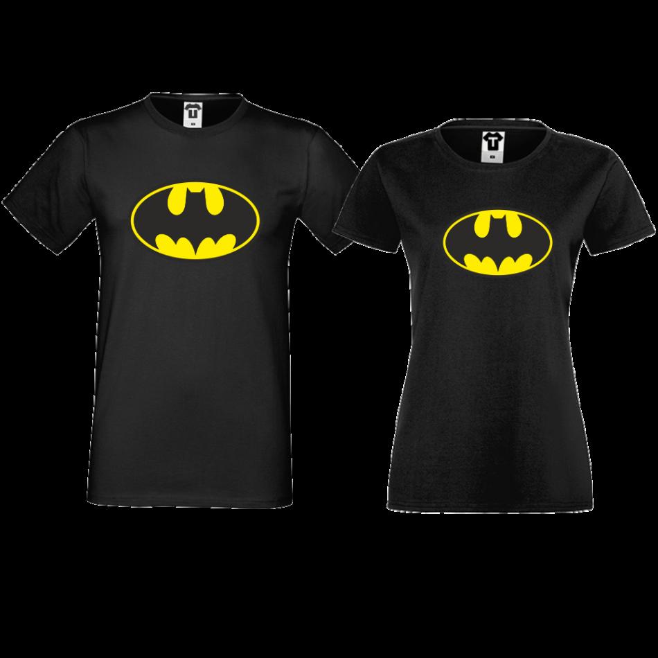 Trička pro páry Černé Batman D-CP-156B