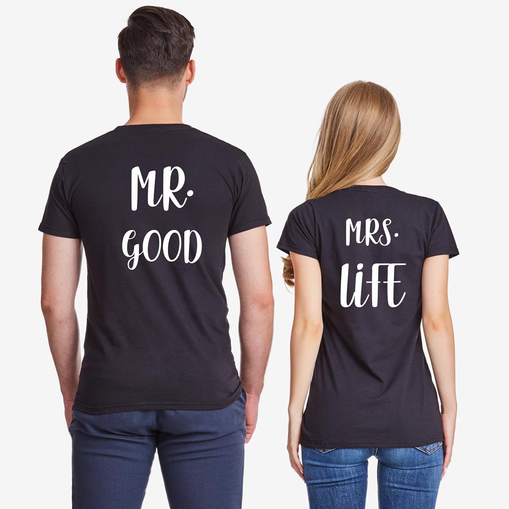 9290fc4848a0 Trička pro páry Mr Mrs Good Life - D-CP-306B - TShirt24.cz