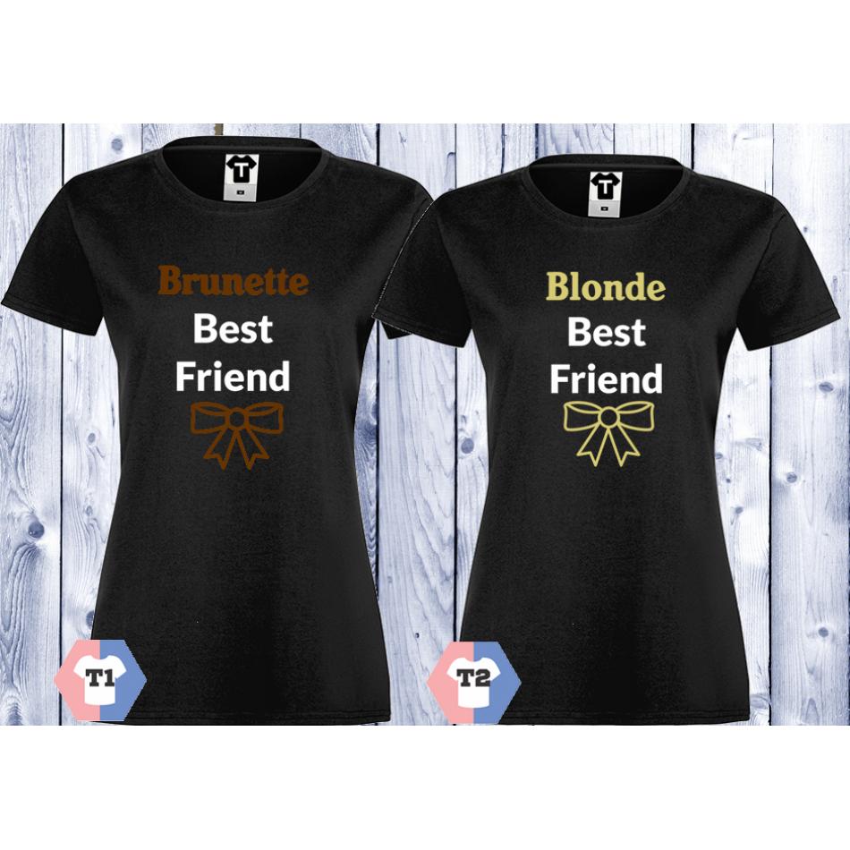 Dámská trička BLONDE BEST FRIEND D-CP-003B