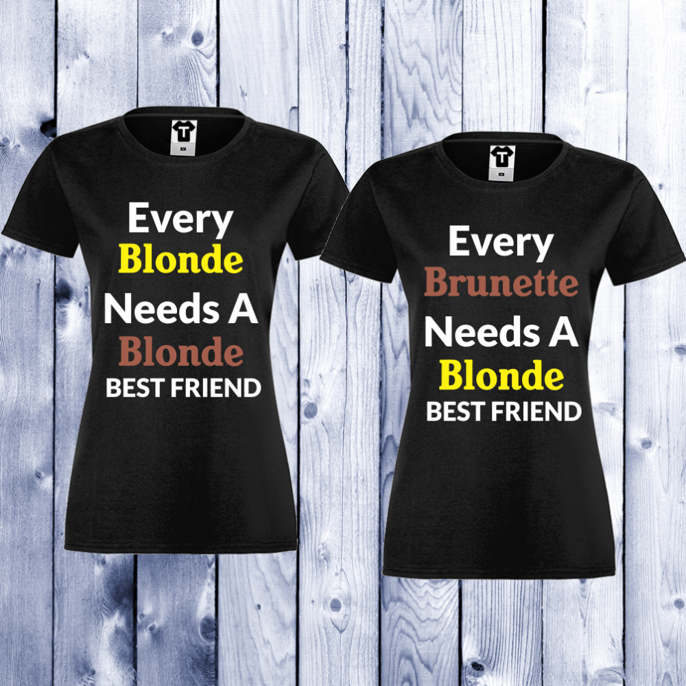 Dámská trička Blonde - Brunette D-CP-004B
