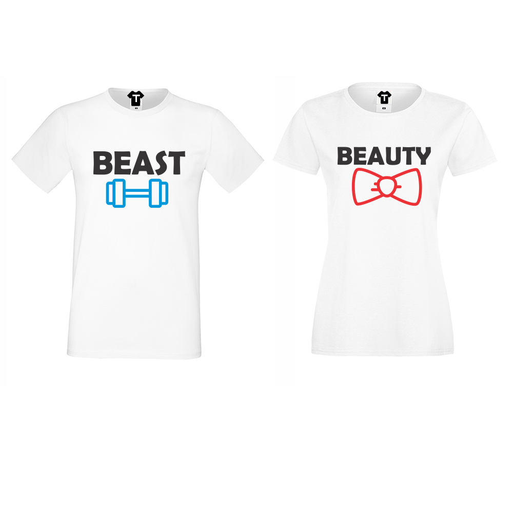 Trička pro páry Beast and Beauty D-CP-065