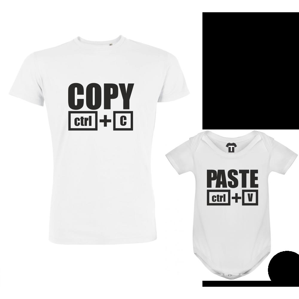 Set pánské tričko a dětské body Copy - Paste D-F1-200