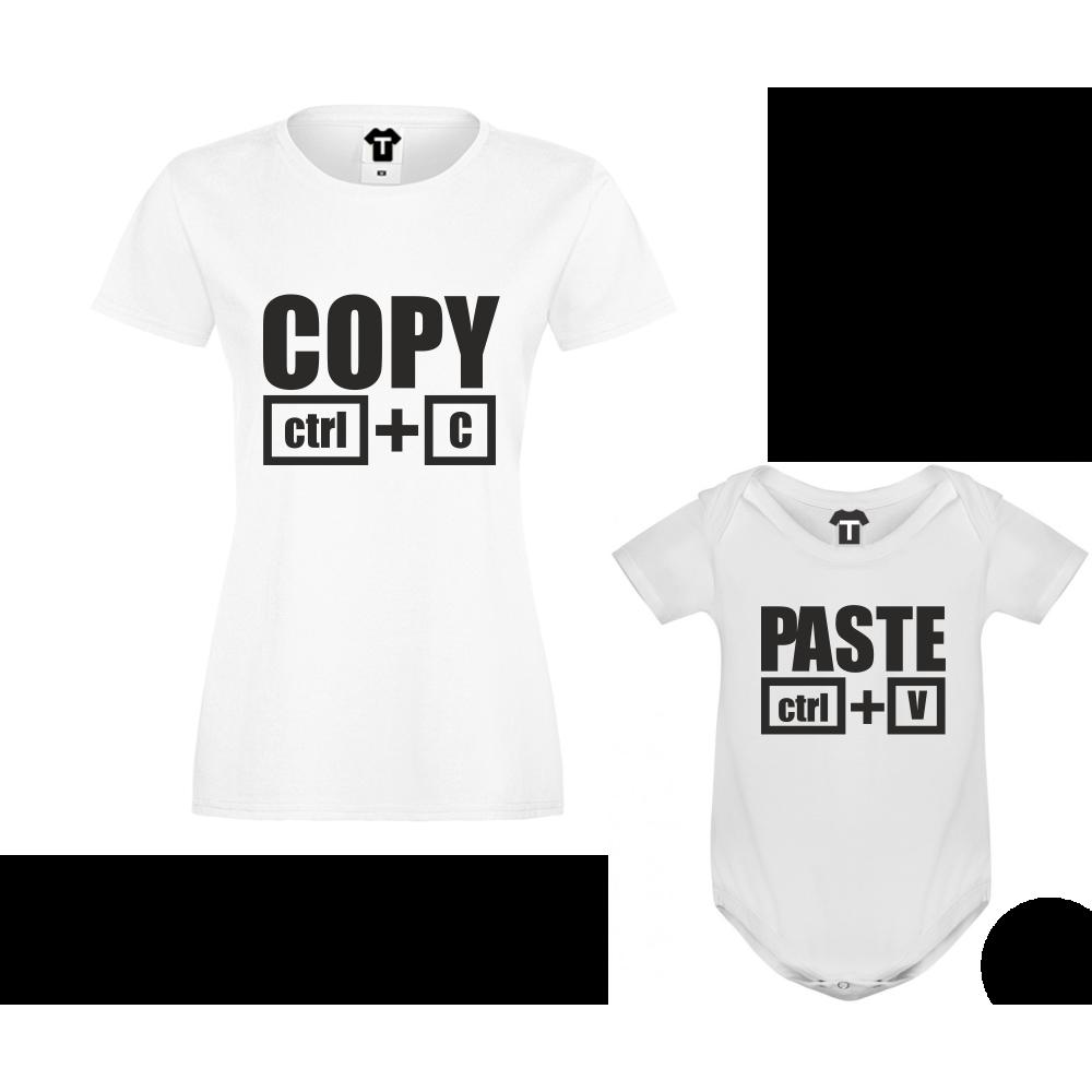 Set dámské tričko a dětské body Copy - Paste D-F3-200