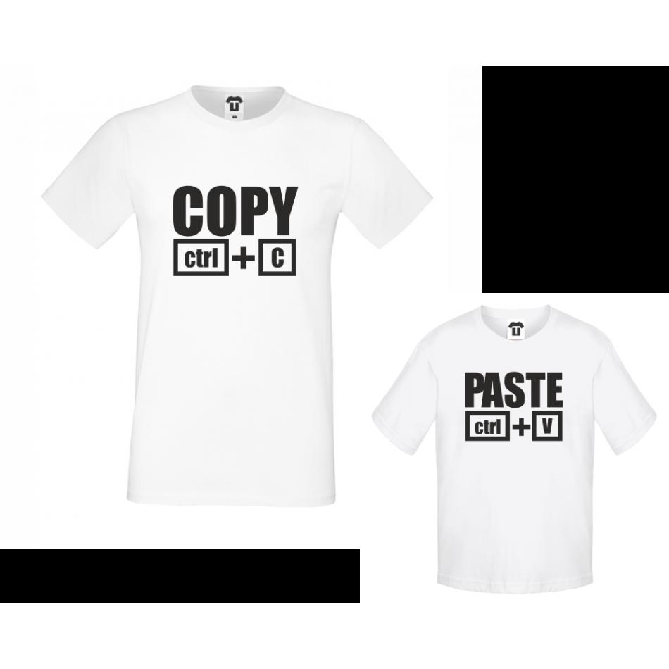 Set pánské tričko a dětské tričko Copy - Paste D-F2-200
