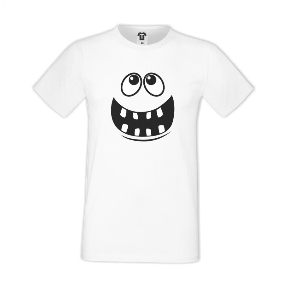Bílé pánské triko D-M-012