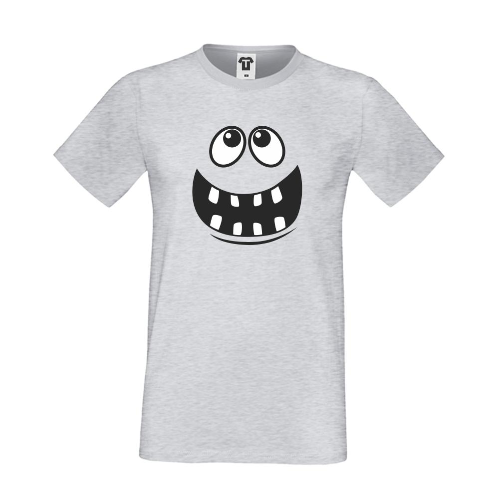 Šedé pánské triko D-M-012G