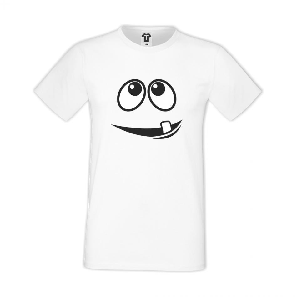 Bílé pánské triko D-M-014
