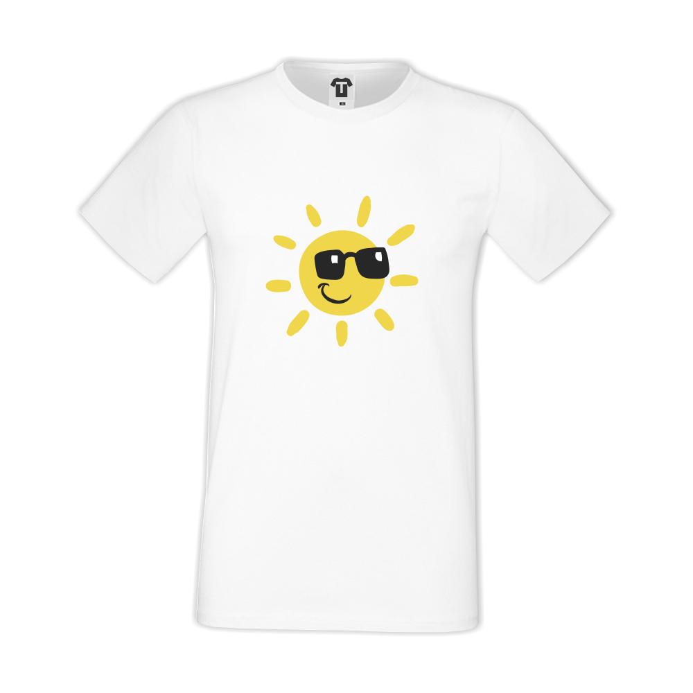 Bílé pánské triko D-M-036