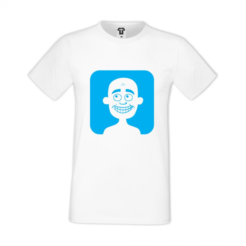Bílé pánské triko D-M-037