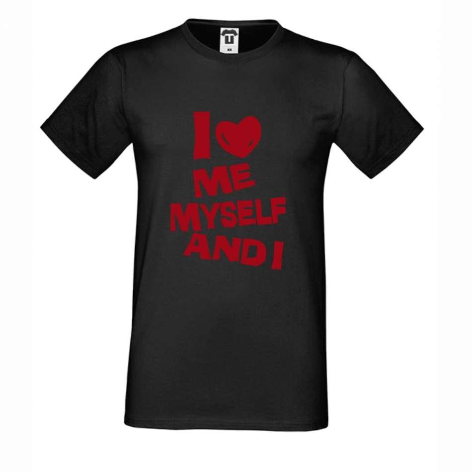 Černé pánské triko I Love Me D-M-143B