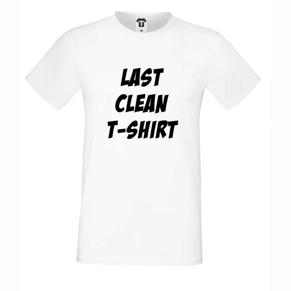 Bílé pánské triko Last Clean T-Shirt D-M-146