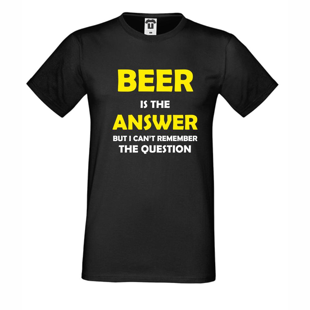 Pánské tričko Černé Beer is the Answer D-M-209B