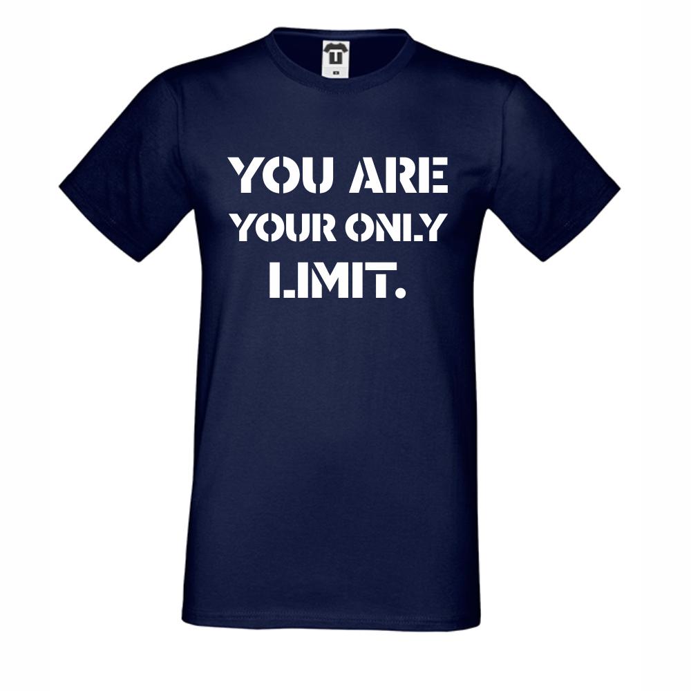 Pánské tričko Tmavé modré You are your Limit D-M-211N