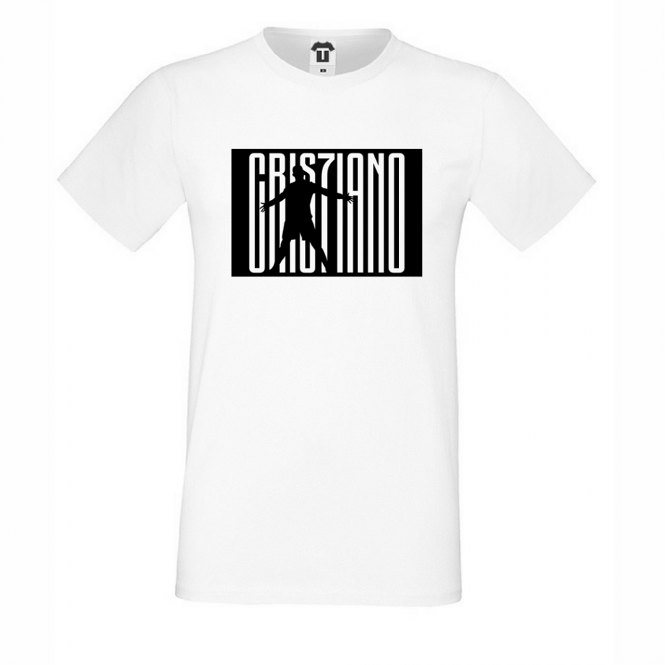 Pánské bílé tričko Cris7iano Juve