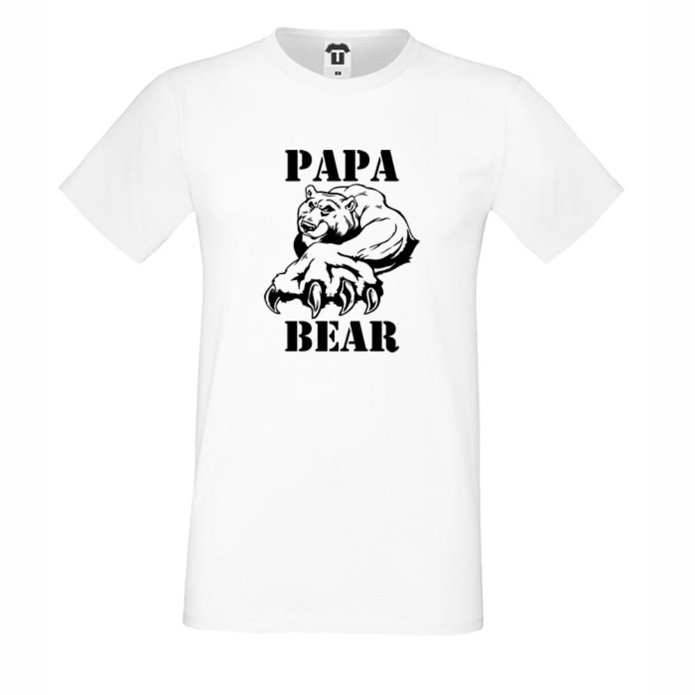Pánské tričko v bílé nebo černé barvě Papa Bear