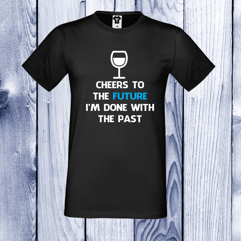 pánská trička Černá Cheers to the future. D-M-015B