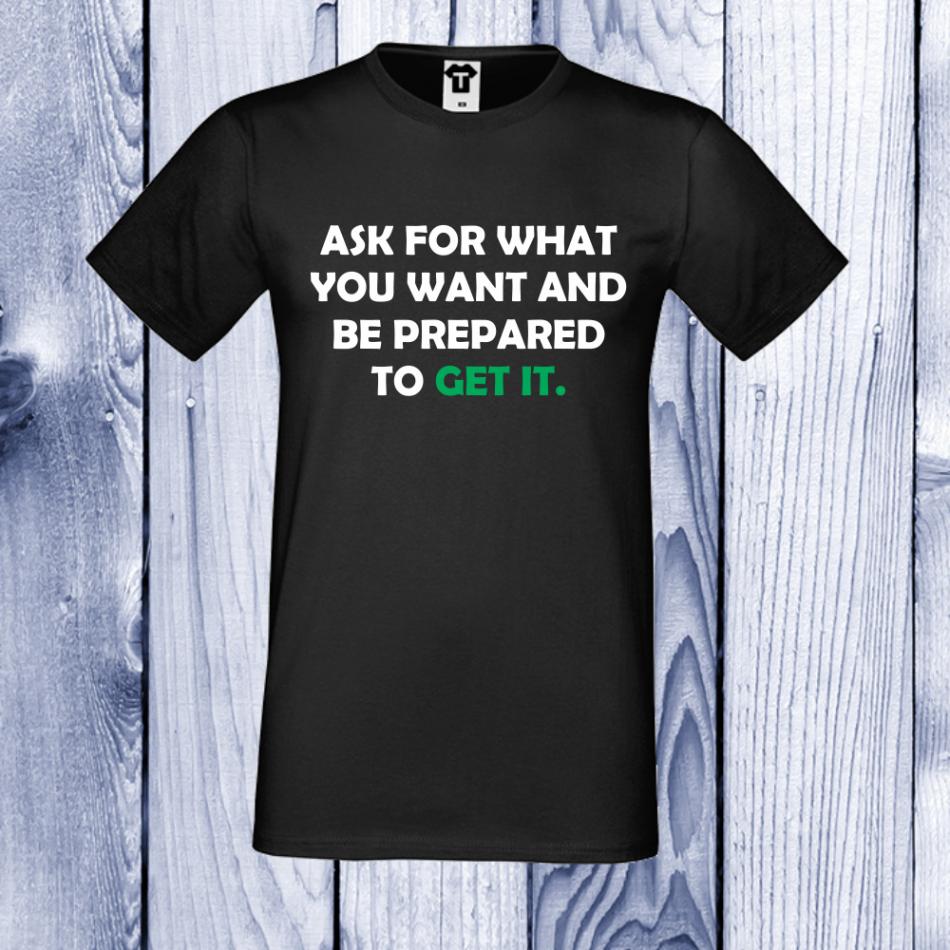 pánská trička Černá Get it D-M-018B