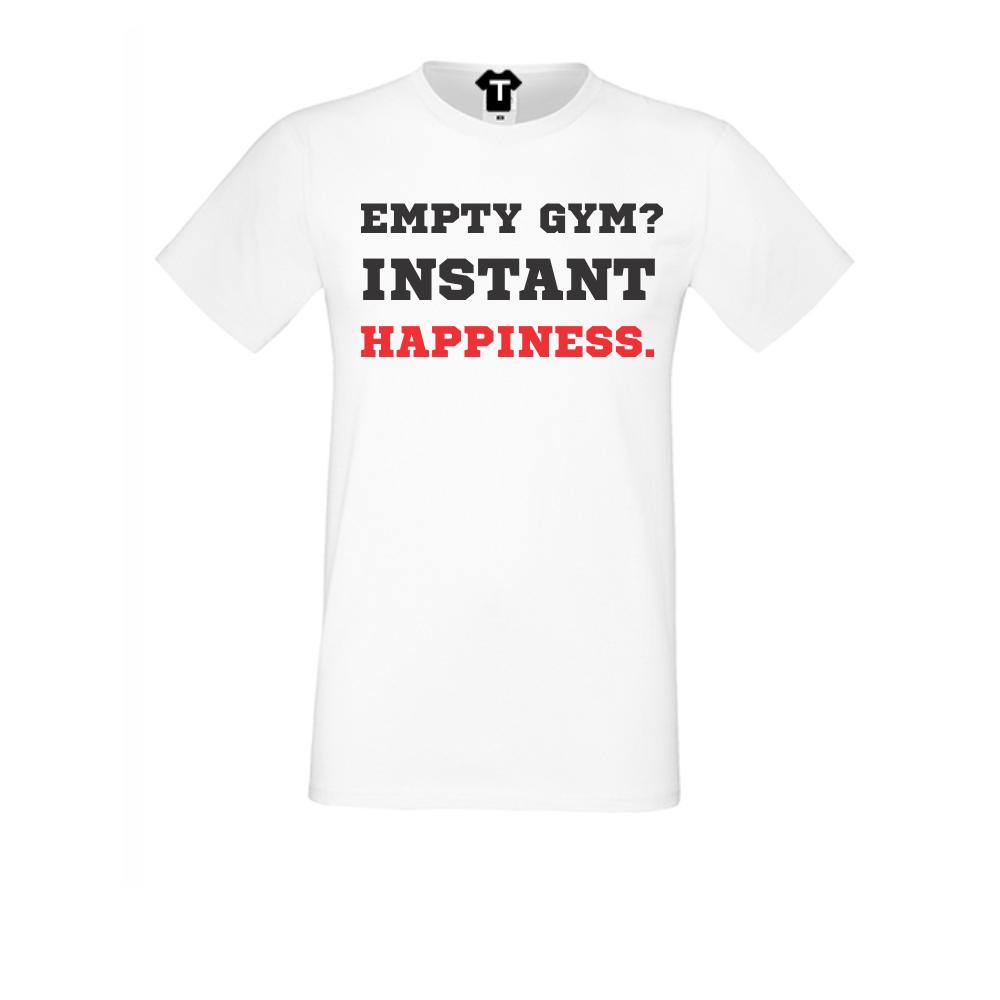 pánská trička Bílá Empty Gym D-M-024