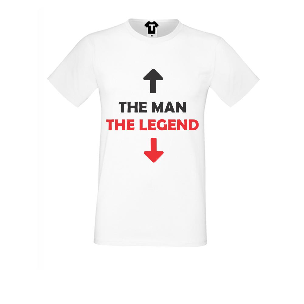 pánská trička Bílá The man - The legend D-M-033