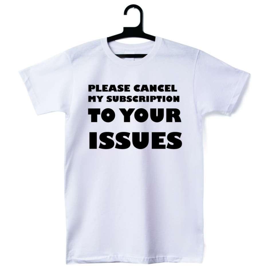pánská trička Bílá Your Issues D-M-040