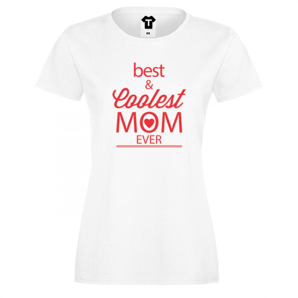 Dámské tričko  Best and Coolest Mom 2 D-W-124