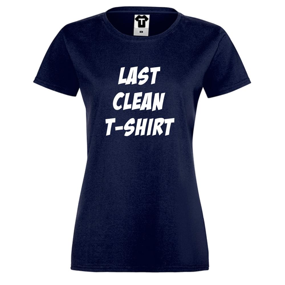 Tmavě modré dámské triko Last Clean T-Shirt D-W-146N