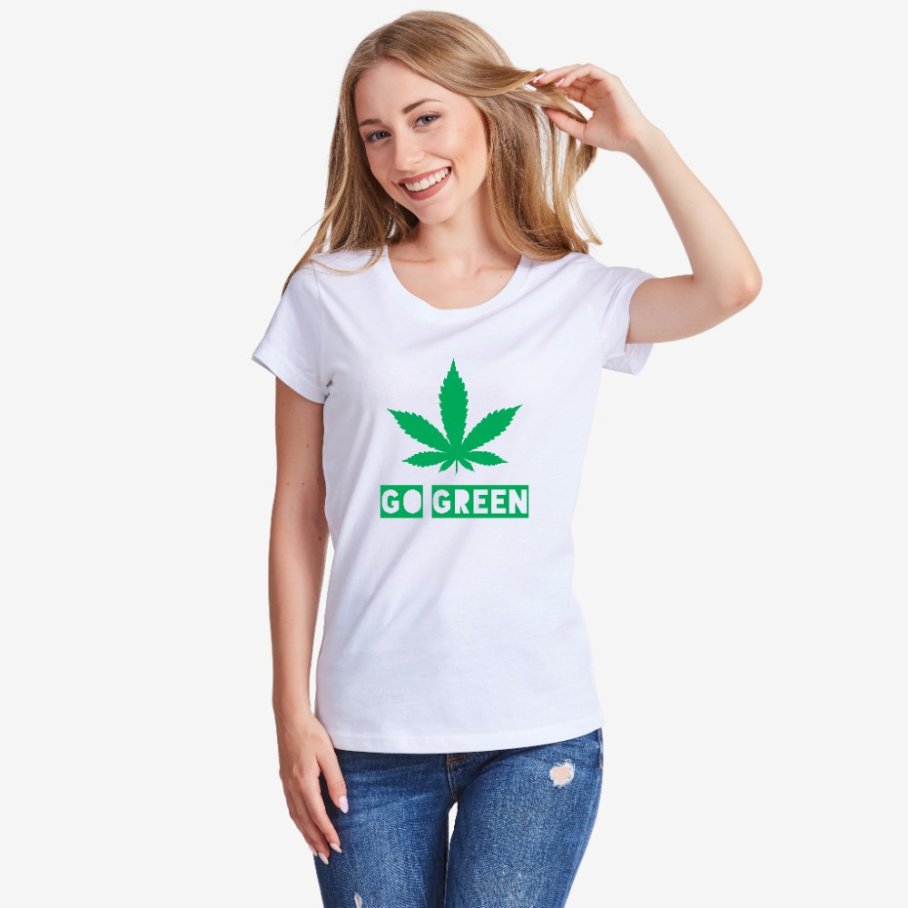 Bílé dámské tričko  Go Green