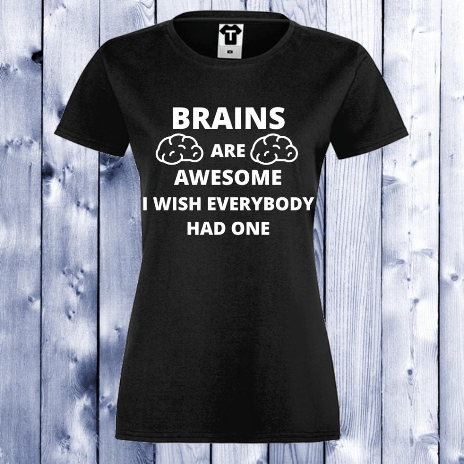 Dámské tričko Černá Brains D-W-034B