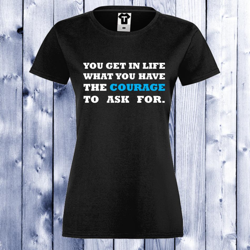 Dámské tričko Černá Courage D-W-017B
