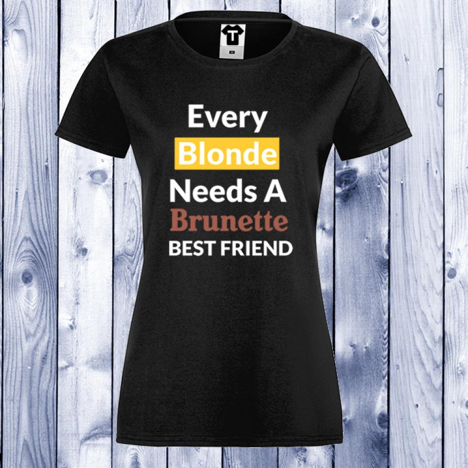 Dámské tričko Černá Friends Forever D-W-005B