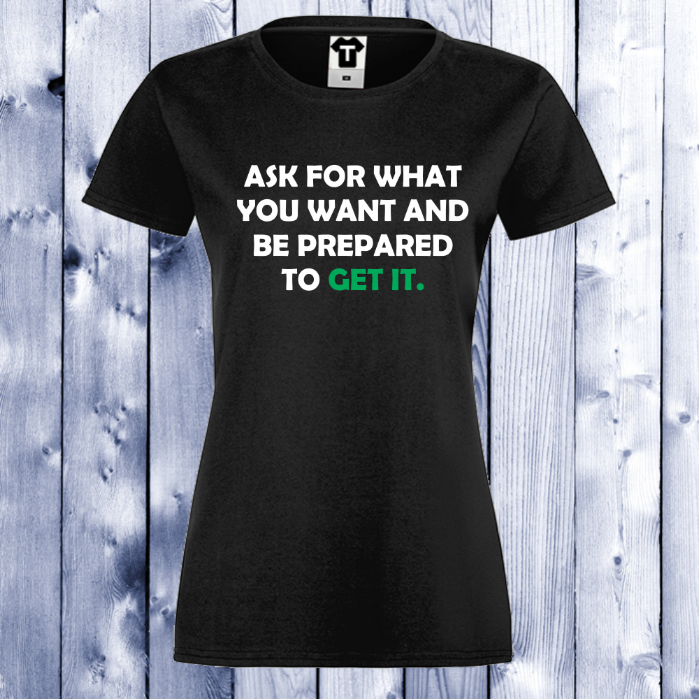 Dámské tričko Černá Get It D-W-018B