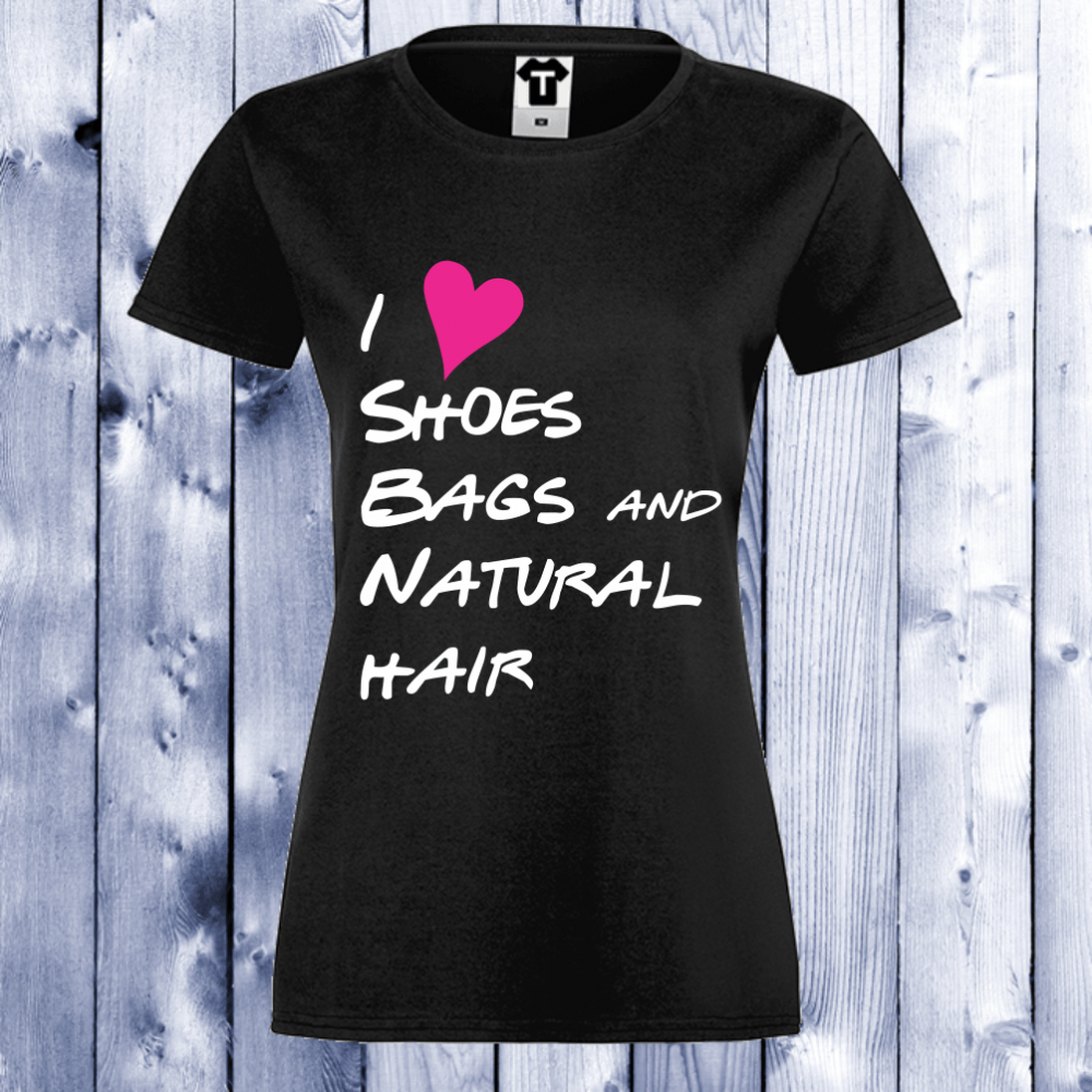Dámské tričko Černá I Love shoes, bags… D-W-030B