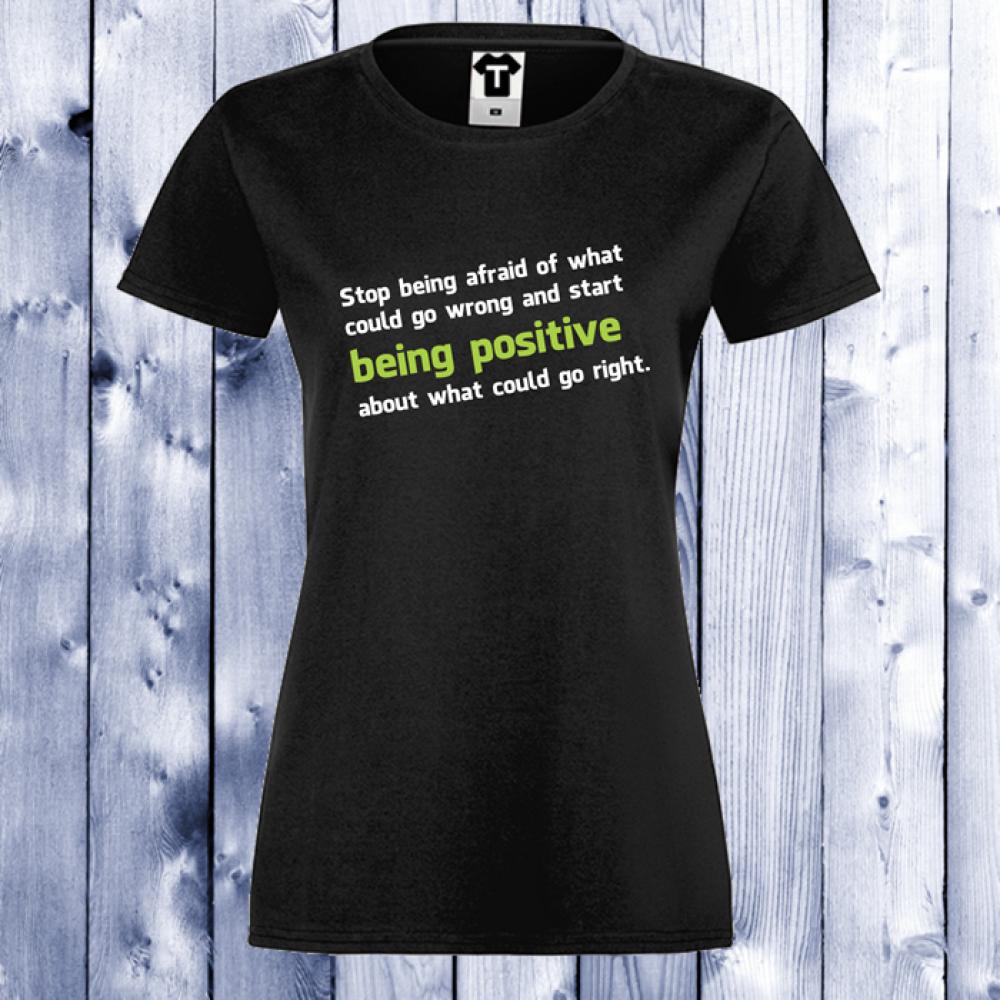 Dámské tričko Černá Positive D-W-021B