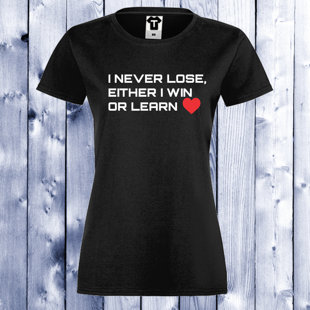 Dámské tričko Černá Win or Learn D-W-019B