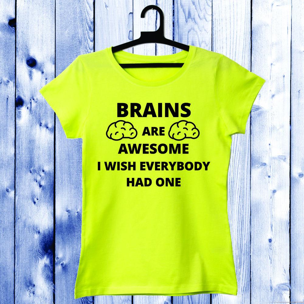 Dámské tričko Žlutá Brains D-W-034-1