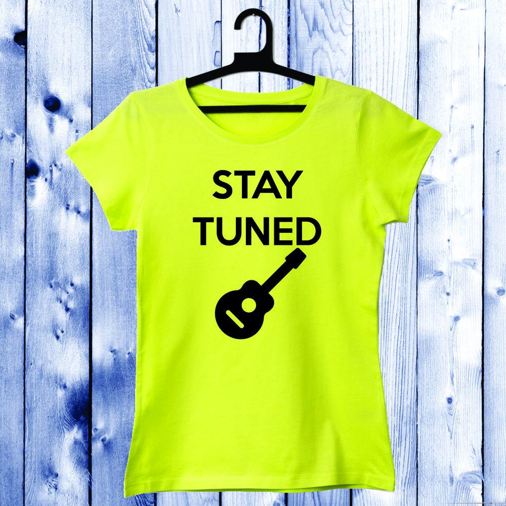 Dámské tričko Žlutá Stay Tuned D-W-032-1