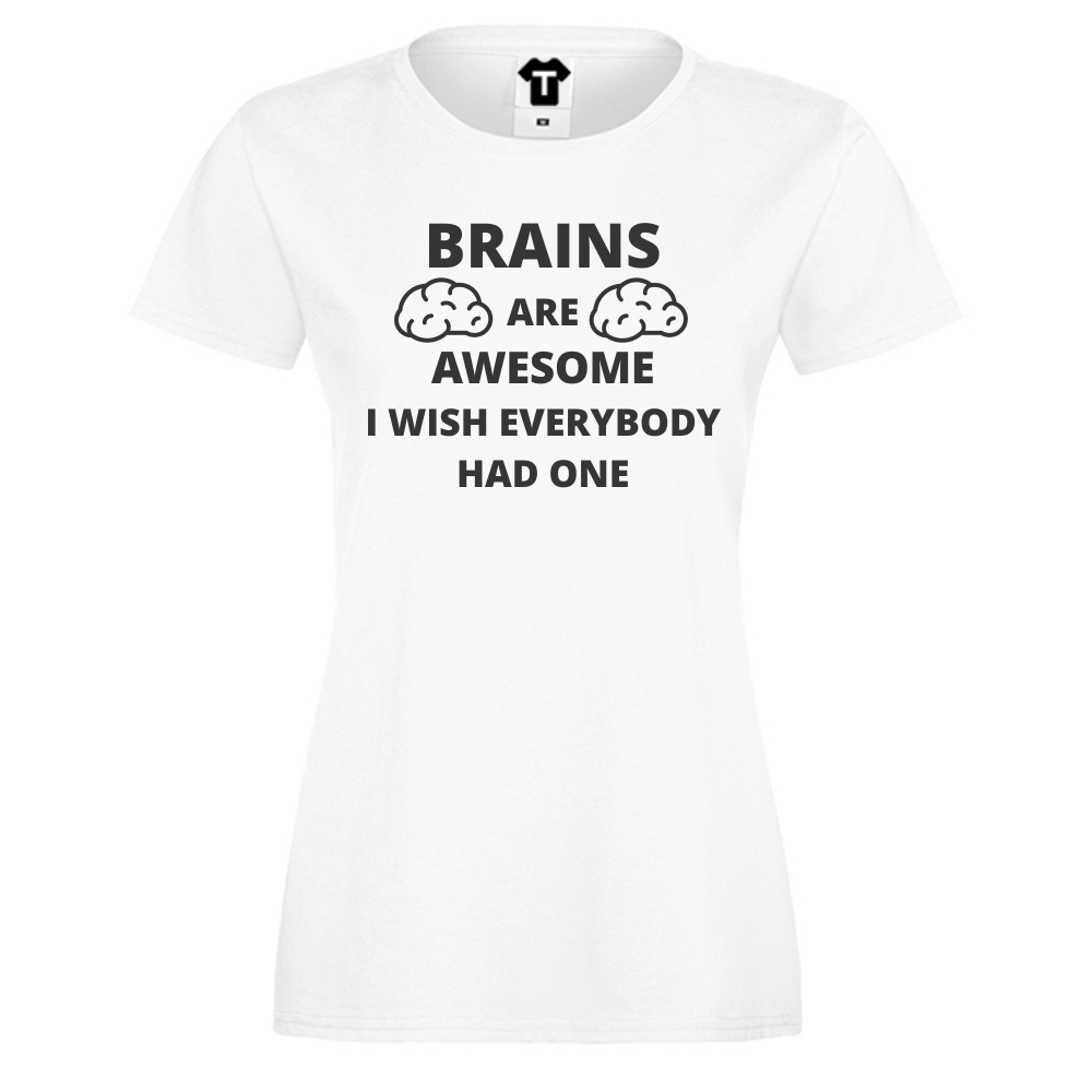 Dámské tričko Bílá Brains D-W-034