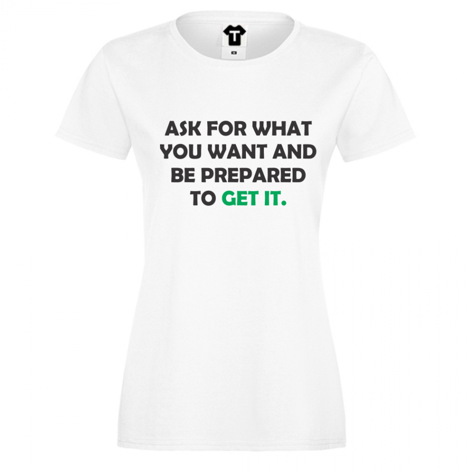 Dámské tričko Bílá Get It D-W-018