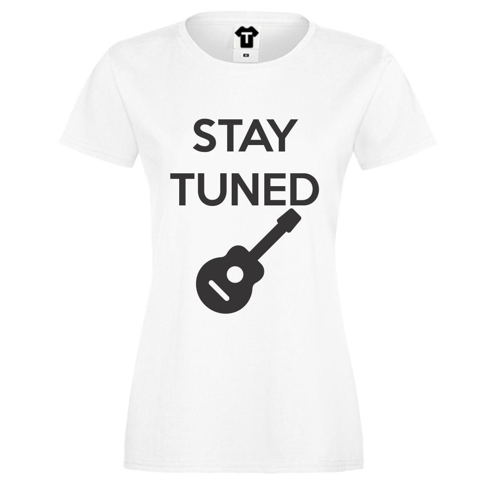 Dámské tričko Bílá Stay Tuned D-W-032