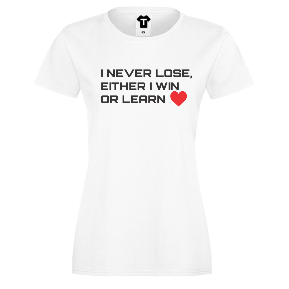 Dámské tričko Bílá Win or Learn D-W-019