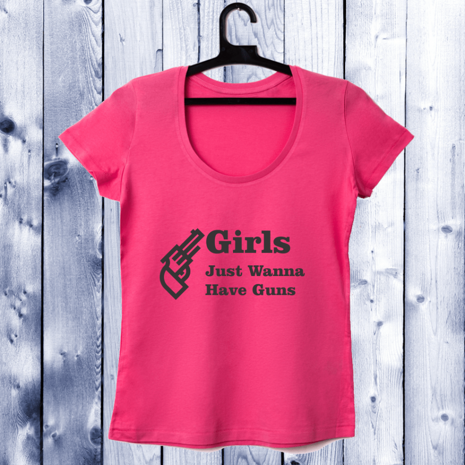 Dámské tričko ciclam Girls Guns D-W-042-2