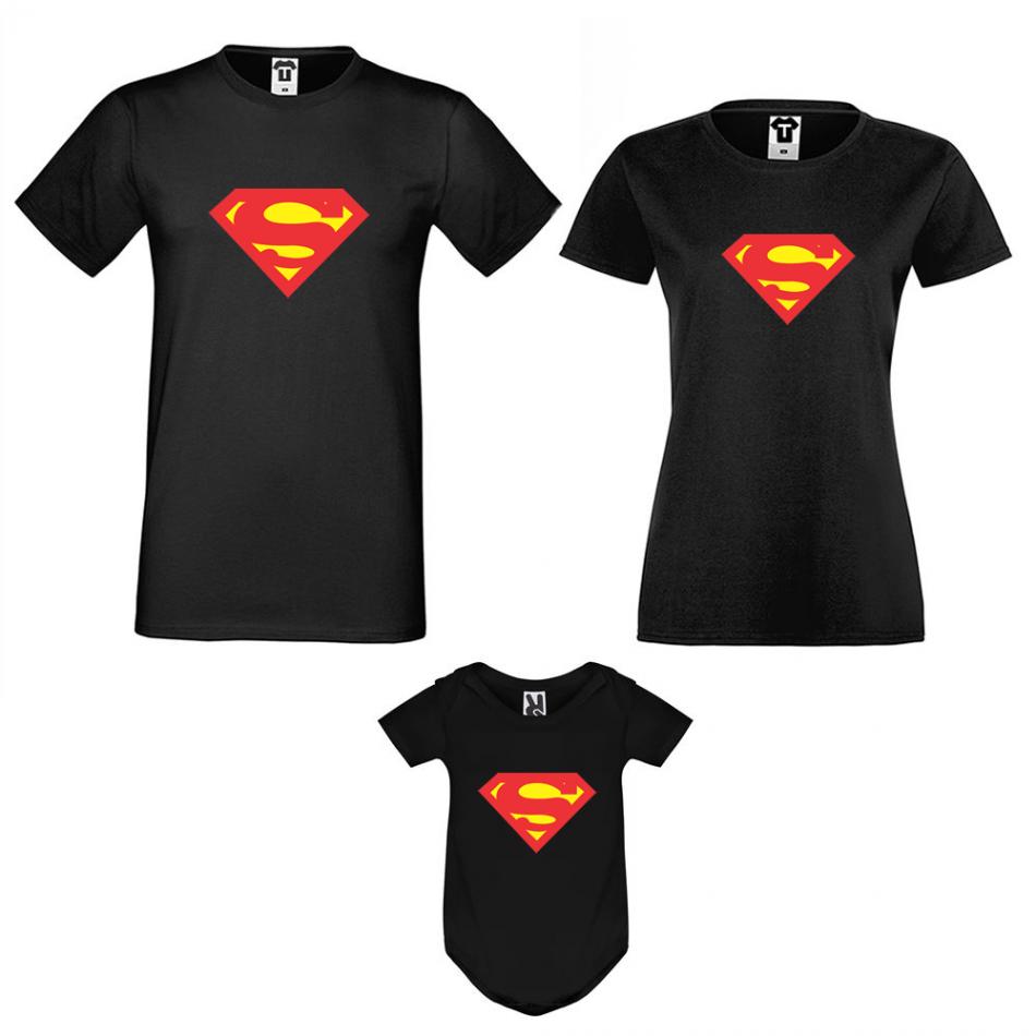 Rodinný set v černé barvě Super Family