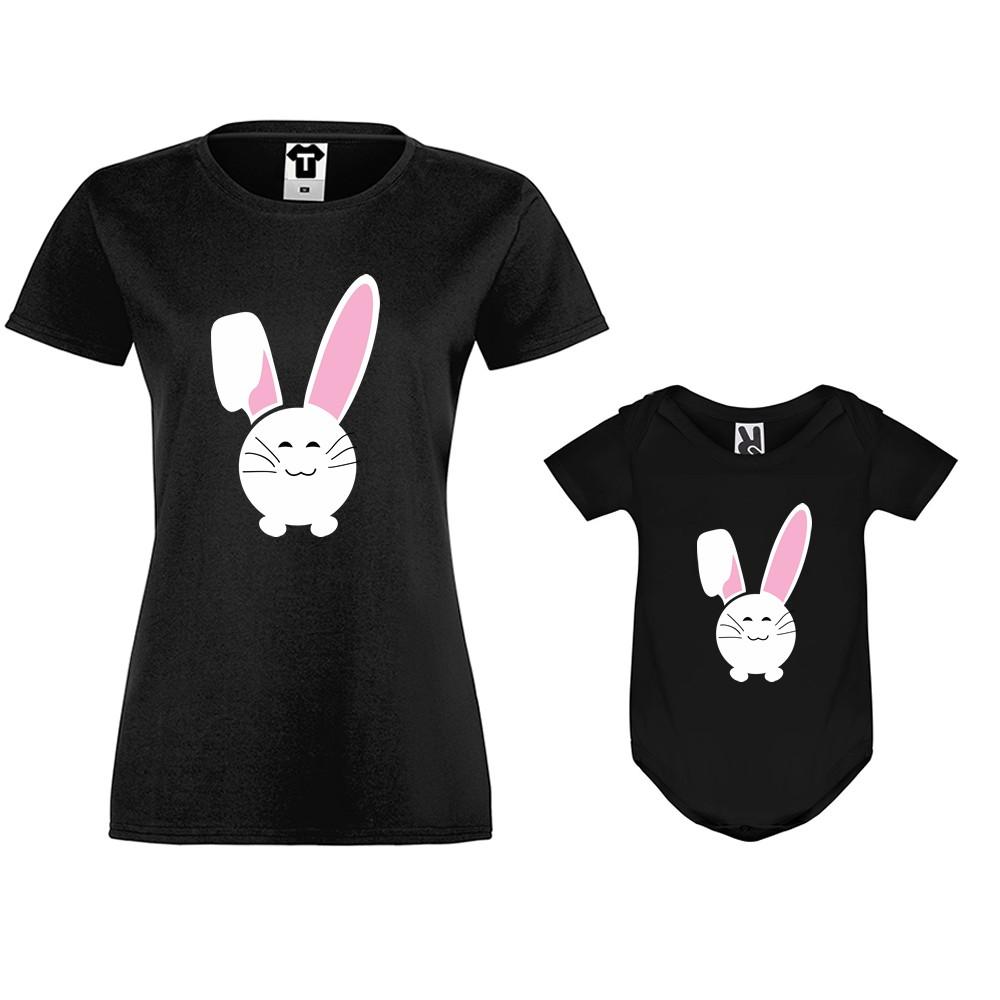 Dámské tričko a kojenecké body Bunny Smile